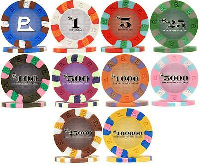 NEW 800 Nexgen Classic Pro Clay Poker Chips Bulk Lot Pick Your Denominations