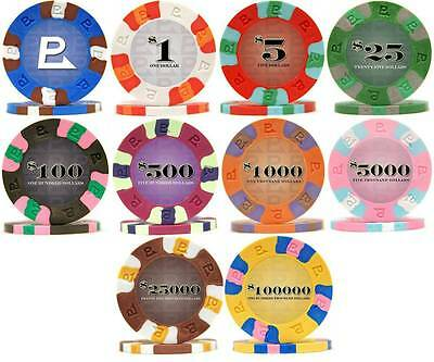 NEW 500 Nexgen Classic Pro Clay Poker Chips Bulk Lot Pick Your Denominations