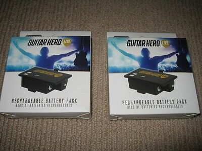 2 x Rechargeable Battery Pack - Guitar Hero Live - Genuine - New - FREE POST!