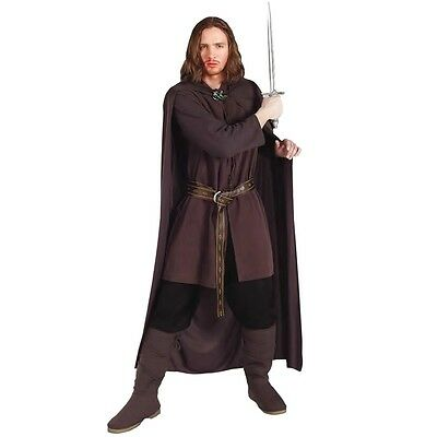 Mens Aragorn Costume Lord of The Rings Halloween Medieval Ranger Party Outfit