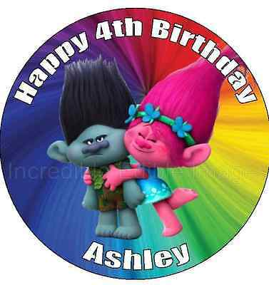 Trolls Personalised Edible ICING CAke Topper Party Decoration
