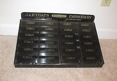 Nice Jp Coats Boilfast Embroidery Spool Silk Thread Metal Display Cabinet