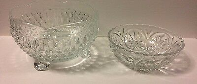 Vintage Candy Dish Glass Decorative Bowls set of Two