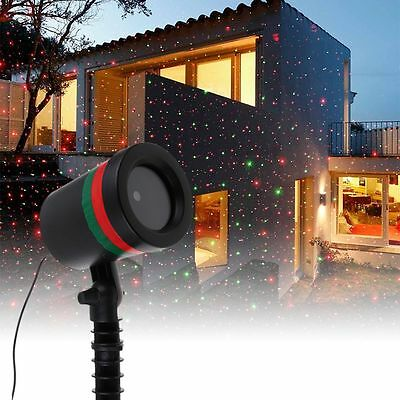 Christmas Star Light Red Green Shower Laser LED Motion Projector Outdoor Garden
