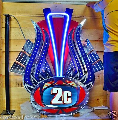 AS NEW Large Casino Neon & LED Gaming Sign 2 Sided Programmable in Wooden Case
