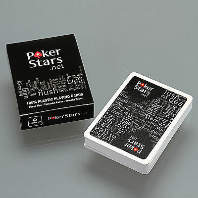 Sealed Deck of Poker Stars Standard Tamanho Poker Playing Cards Black