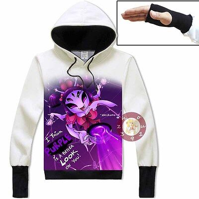 Anime Game Undertale Muffet Unisex Jacket Cosplay Hoodie Pullover Coat#SSW40