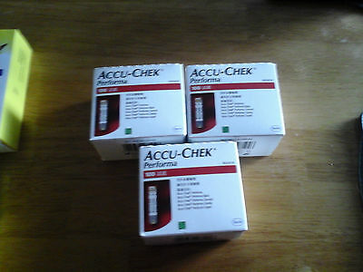 Accu-Chek Performa Blood Glucose Strips (100 Tests x 3 Boxes)SPECIAL $89.00