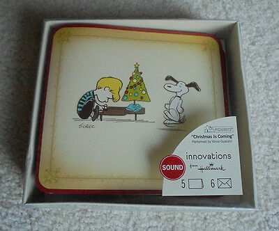 Peanuts Christmas is Coming Sound Christmas Cards Hallmark **NEW**