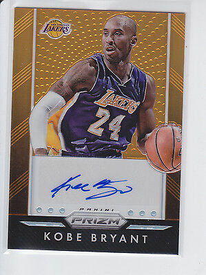 2015-16 Panini Prizm Orange Autograph KOBE BRYANT AUTO, LAKERS LEGEND /65!