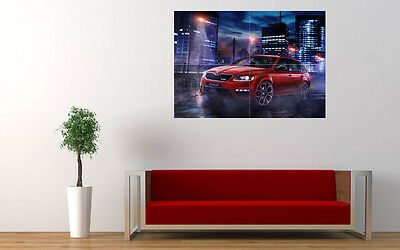 """2015 SKODA OCTAVIA RS 230 NEW LARGE ART PRINT POSTER PICTURE WALL 33.1""""x23.4"""""""