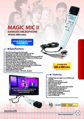 Magic Mic Index with 12,000 ES Songs SD Card, Real Instrumental karaoke