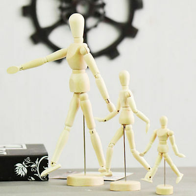 30cm Wooden Artists Manikin Jointed Person Model Movable Limbs Human Sketch Mann