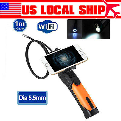 Dia 5.5mm Wireless IP67 Waterproof Endoscope Inspection Camera 1m Tube For IOS