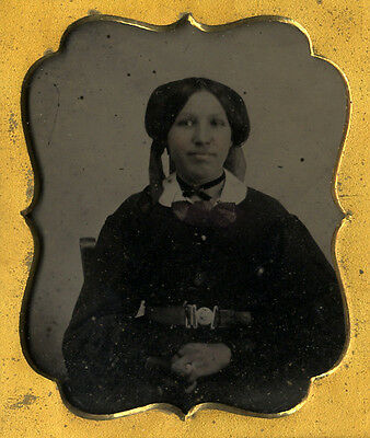 1860s Ambrotype Young African American / Mixed Race Woman