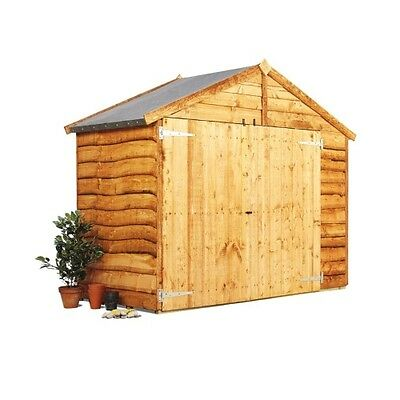 Wooden Bike Store Shed Storage Garden Waney Apex 3'x6' FLOOR/BASE NOT INCLUDED