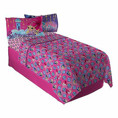 Twin or Full Shimmer and Shine Sheet Set & Pillowcases Kid New Single Bedding