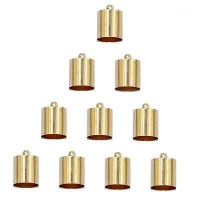 10 Brass End Bead Cap for 7mm 8mm Cord Jewelry Necklace DIY Findings