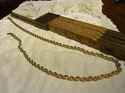 """BMNY Heavy/Chunky 24KGP Yellow Gold Plated Twisted Rope Chain Necklace 24"""""""