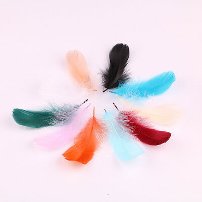 Lovely Pretty Feather Short Goose Feather 100pcs DIY Party Decoration