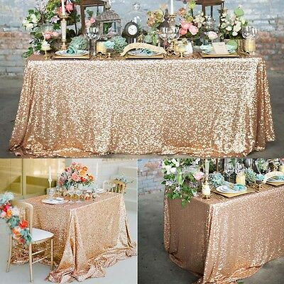 """40""""x 60""""  Sparkly Bling Sequin Tablecloth For Wedding/Event/Party/Banquet Decor"""