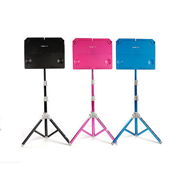 Blue/Rose Pink/Black Music Sheets Stand Tripod Holder Metal Adjustable Foldable