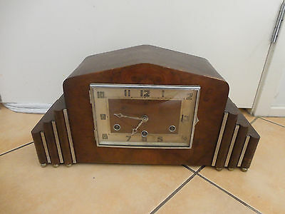 Antique/vintage Westminster chime mantle working clock