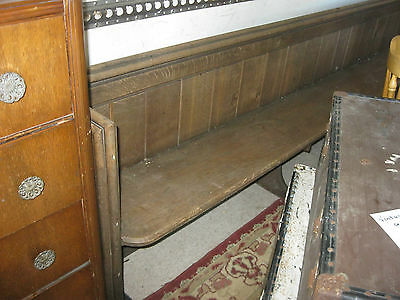 Vintage Ornate Oak Long Church Pew. Good Condition. Sits 6/7.view/delivery Poss