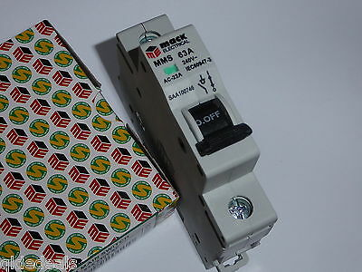 Main Switch 63A 240V Din 1 Pole Saa Approved 1007746 Switchboard Industrial New