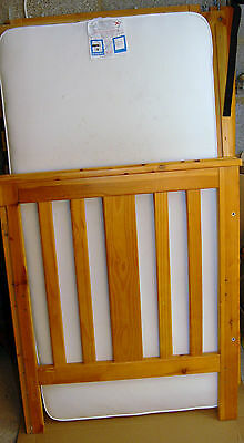 SOLID PINE COT BED Baby/Child/Toddler Nursery Furniture