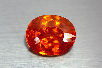 8.09 Ct RARE LUSTER SUNSET ORANGE RED NATURAL UNHEATED SPHALERITE *GEM PIECE*