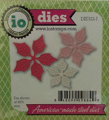MINI POINSETTIA DIE-Impression Obsession (322J)suitable for most die cutters