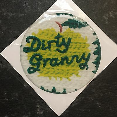 Dirty Granny Beer Tap Badge, Decal, Top