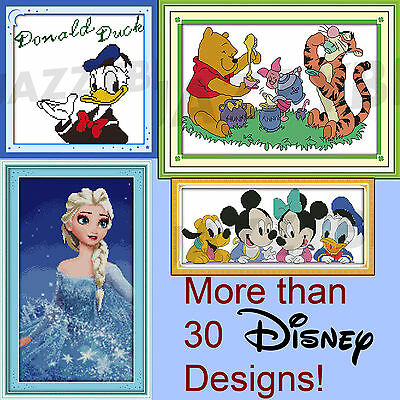 Counted Cross Stitch New Disney Kit Winnie 14 Count for Home x Mini Embroidery