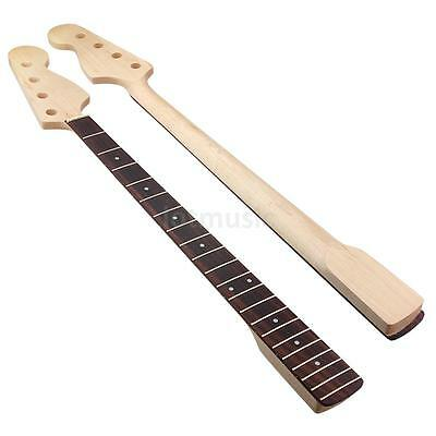 Bass Neck for Jazz Guitar Parts Replacement Maple Rosewood Fingerboard 21 Fret