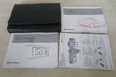 VAUXHALL CORSA C 2001-2006 Owners Manual Handbook & Audio Book with Wallet Pack