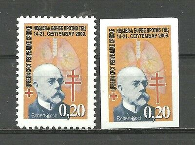 506 Bosnia/Serbia 2009 Red Cross TBC perf.+imperforated