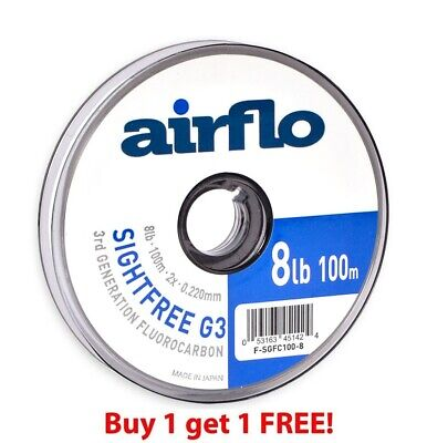Airflo G3 Sightfree Flurocarbon 100m (Buy One Get One Free) ** 2018 Stocks ***
