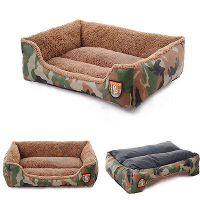 Military Green Dog Bed Kennel Small Cat Pet Puppy Bed Mat House Soft Warm KL
