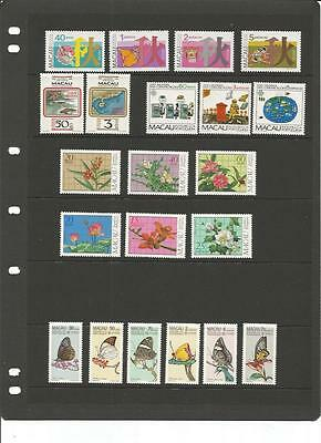 MACAU: interesting collection of mainly SETS MNH + M/S - 60 stamps -