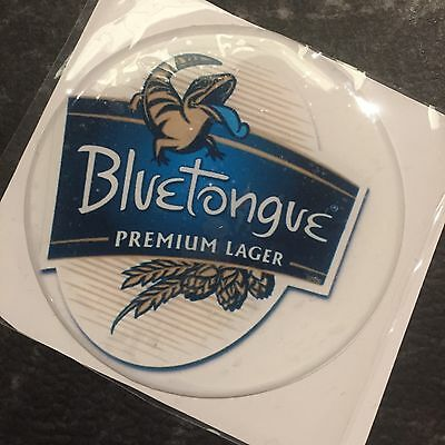 Blue Tongue Premium Lager Beer Tap Badge, Decal, Top