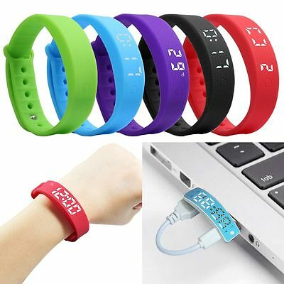 Smart Wrist Watch Band Fitness Health Bracelet Pedometer Tracker Activity Silent