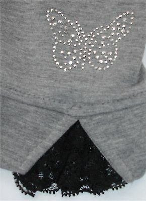 NEW Grey Butterfly Ankle Maternity Leggings with Button Waistband Size 8