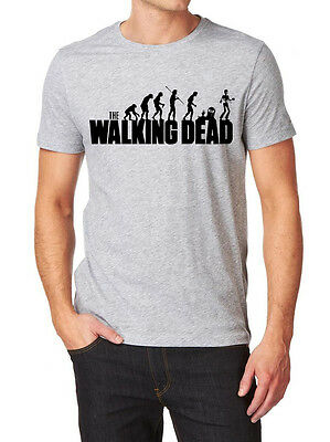 Evolution of Men The Walking Dead Inspired T Shirt - Gift for Dad Fathers Day