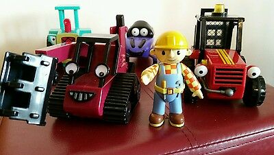 Bob The Builder  +  Friction Powered Vehicles - Sumsy,  Zoomer, Benny And Travis