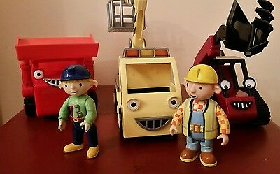 Bob The Builder Friction Powered Vehicles - Muck, Benny & Flex With Wendy & Bob