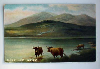 CLOONE LAKE GLENOAR, pre-WW1 coloured lithograph, unposted, EXCELLENT cond
