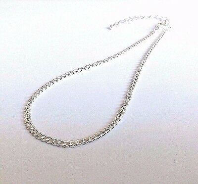 ~ Sterling Silver Plated Curb Chain Anklet / Ankle Bracelet ~