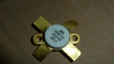 NEW 1PC ACR S200-50 RF Power Transistor  200 Watts, 50 Volts 1.5 - 30 MHz GOLD
