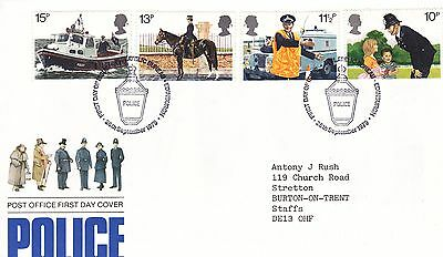 POLICE stamps FDC - 26th September 1979